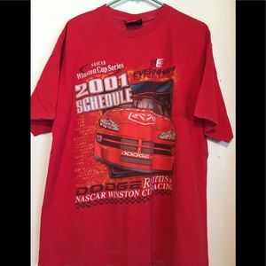 Chase NASCAR Winston Cup 2001 Schedule Shirt Lg